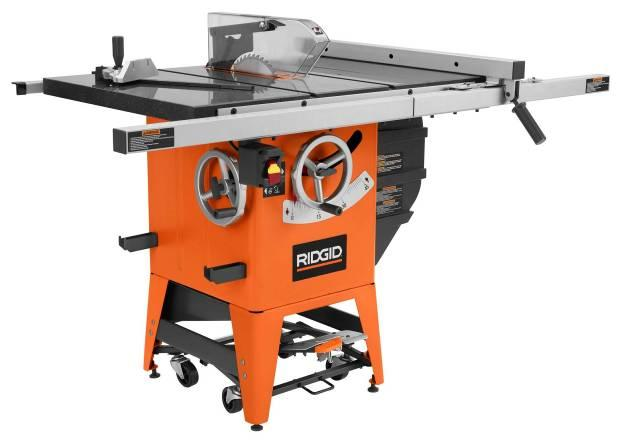 Ridgid Table Saws Sold Exclusively At Home Depot Recalled By One World Technologies Due To