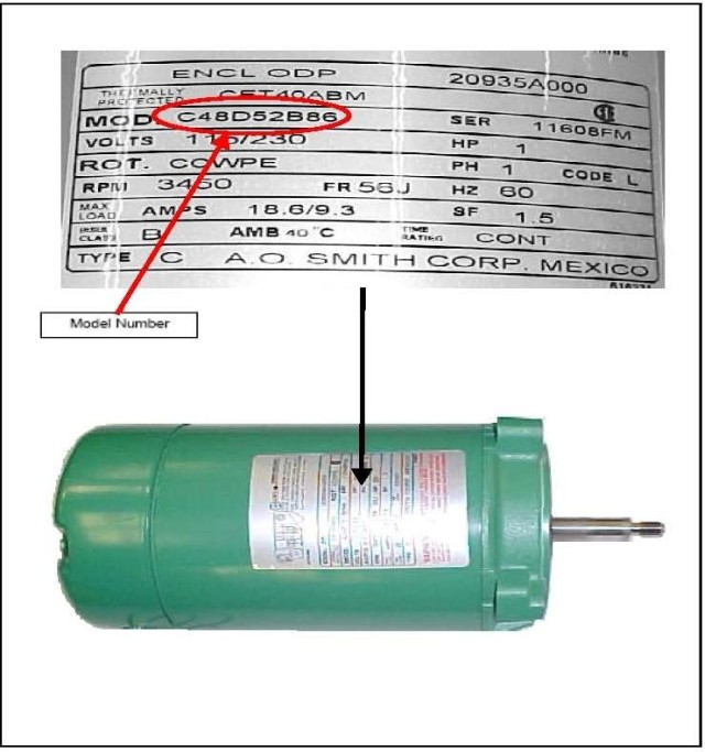 A o smith recalls water pump motors due to fire hazard for Ao smith replacement motors