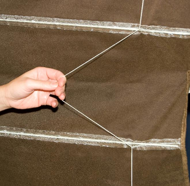Picture of Recalled Roman blind showing cord
