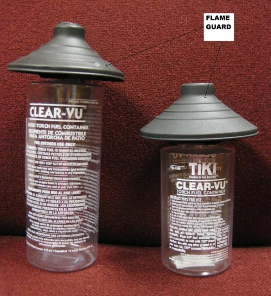 Picture of Recalled Flame Guards with location of Flame Guard indicated