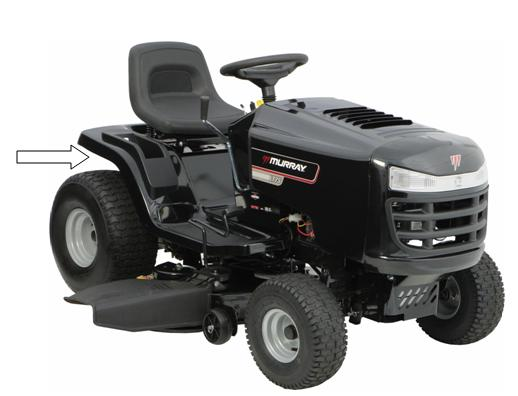 Picture of Recalled Murray Front Engine Riding Lawn Mower