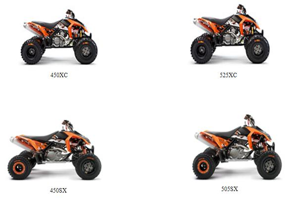 Picture of Recalled All-Terrain Vehicles (ATVs)