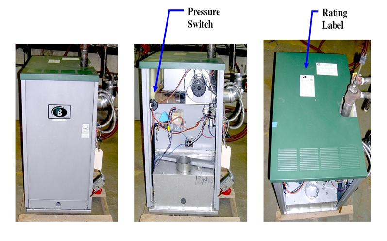 Picture of Recalled Series PCII Gas Boilers