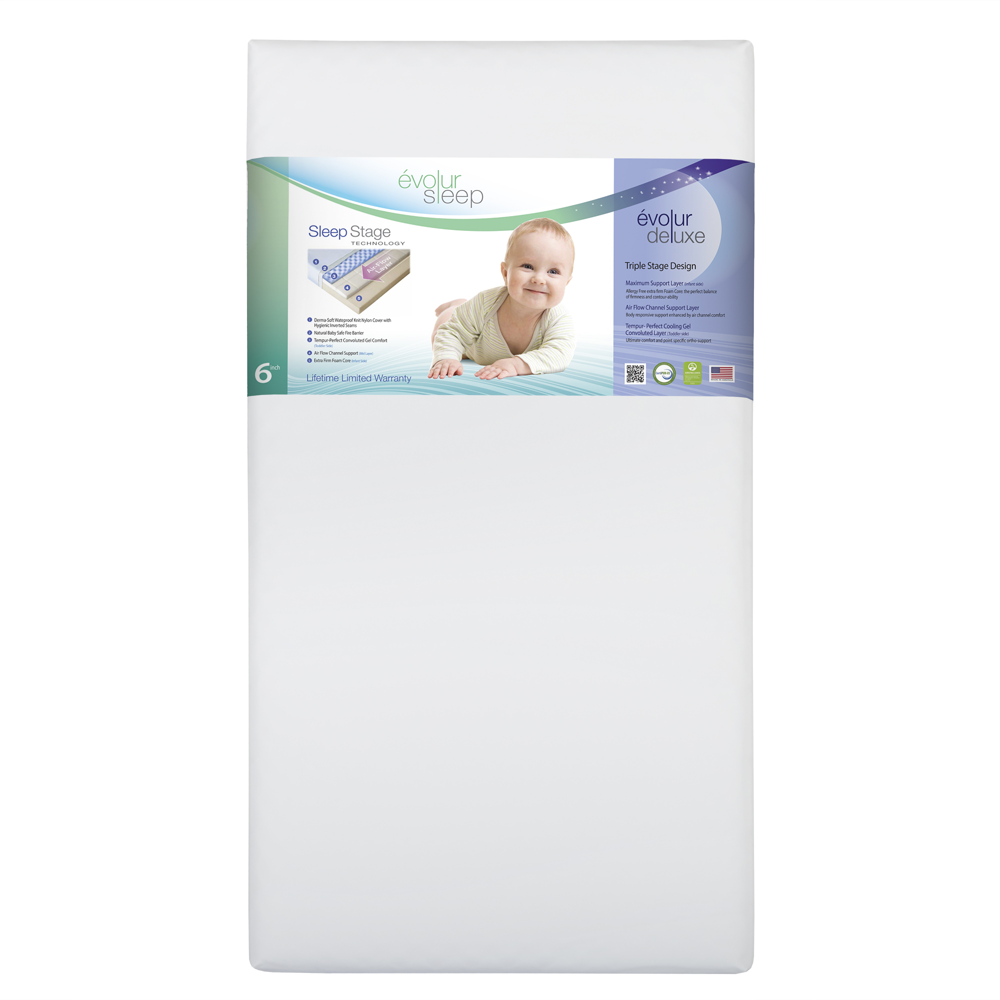 Évolur Sleep Deluxe Crib and Toddler Bed Mattress (Model 850)