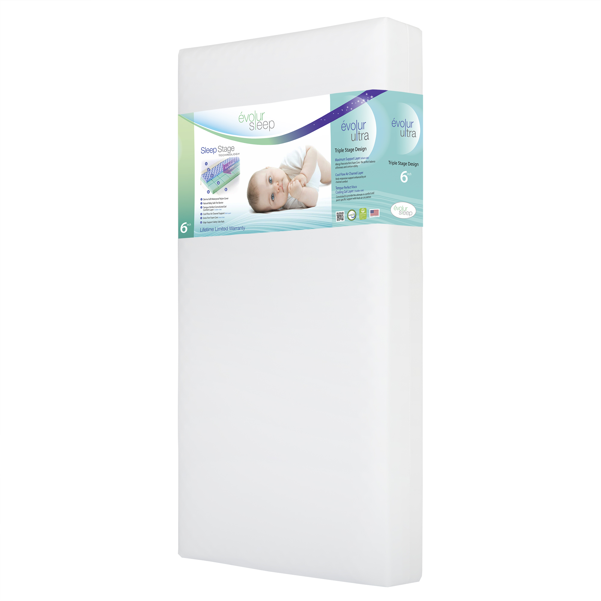 Évolur Sleep Ultra Crib and Toddler Bed Mattress (Model 849)