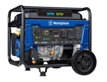 Recalled Westinghouse WGen5300DFv Dual Fuel Portable Generator