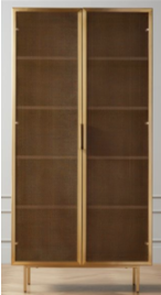 Recalled Trace Brass Bookcase (SKU 338-925)