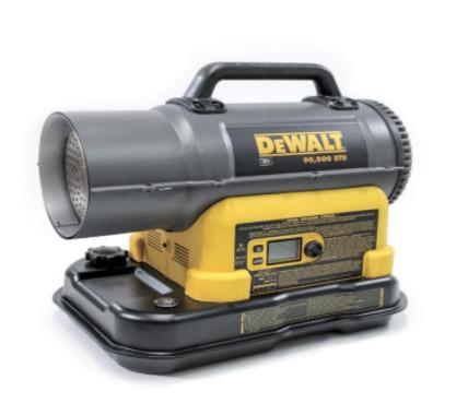 Recalled DeWalt cordless kerosene forced-air heater (models DXH90CFAK and DXH90CFAKM)