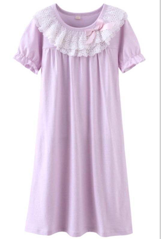 ASHERGAL children's nightgown in purple
