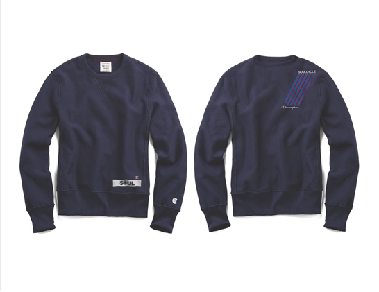 Recalled men's Todd Snyder + Champion sweatshirt with SoulCycle branding