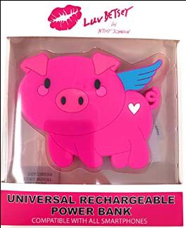 Cargador de baterías con forma de cerdo volador