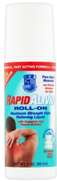 Recalled Sanvall Rapid Alivio Pain Relieving Roll-On – 3 fl. oz (88.5 mL)