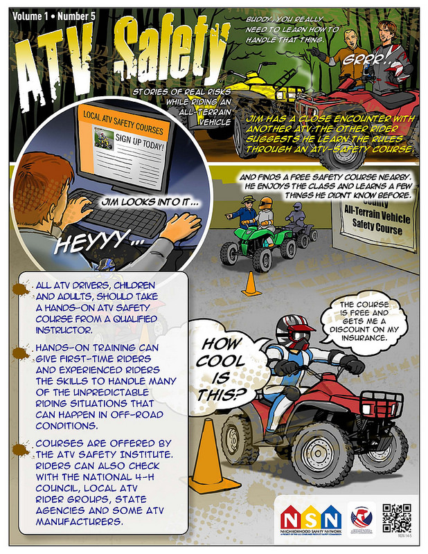 atv saftey Online atv safety course hands-on atv riding performance class (a parent or guardian must be present at the hands-on training portion for youth ages 6 through 10.