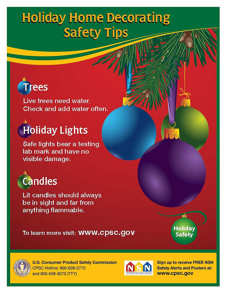 holiday home decorating safety tips