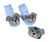 image of Infant Sock and Wrist Rattle Sets