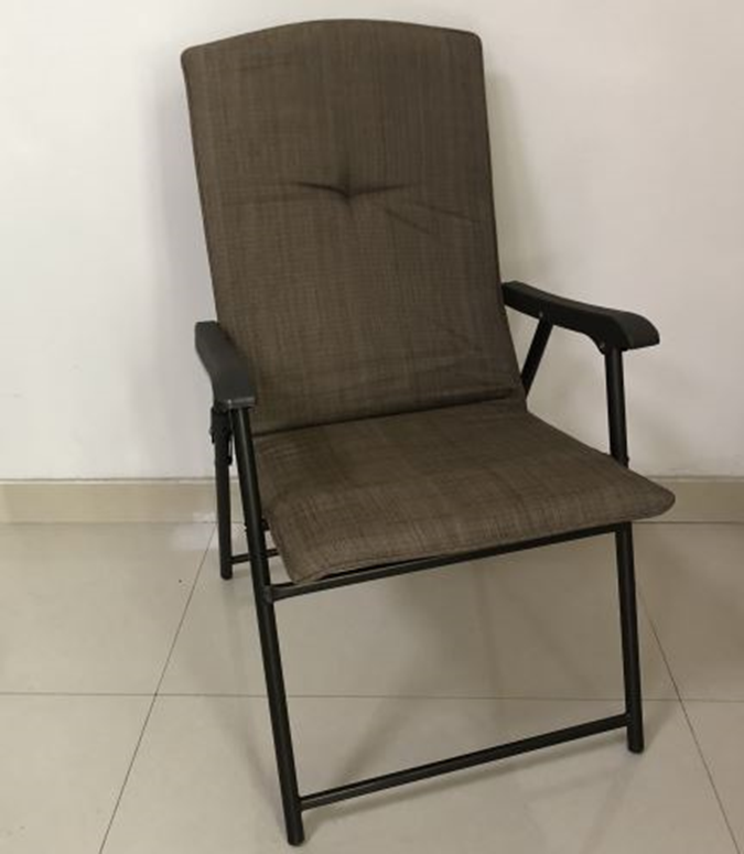 Recalled Folding Padded Patio Chair --Tan (Item #9043325)