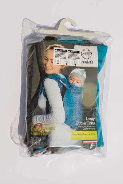 Lenny Lamb Buckle Onbu infant carrier packaging