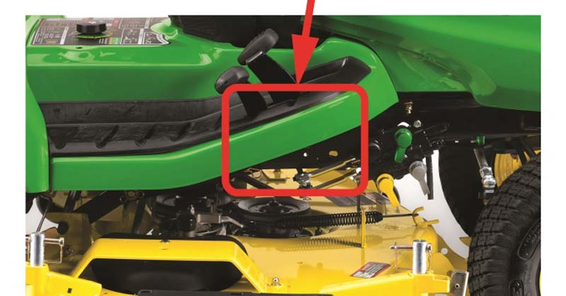 John Deere lawn and garden tractor serial number location.