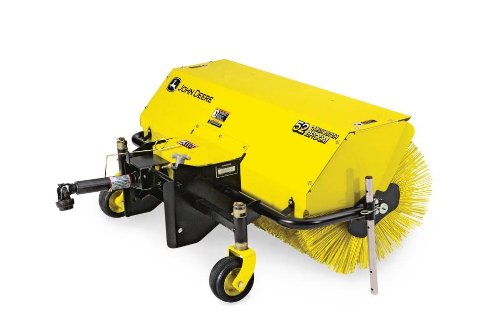 Broom attachment for John Deere Compact Utility Tractor