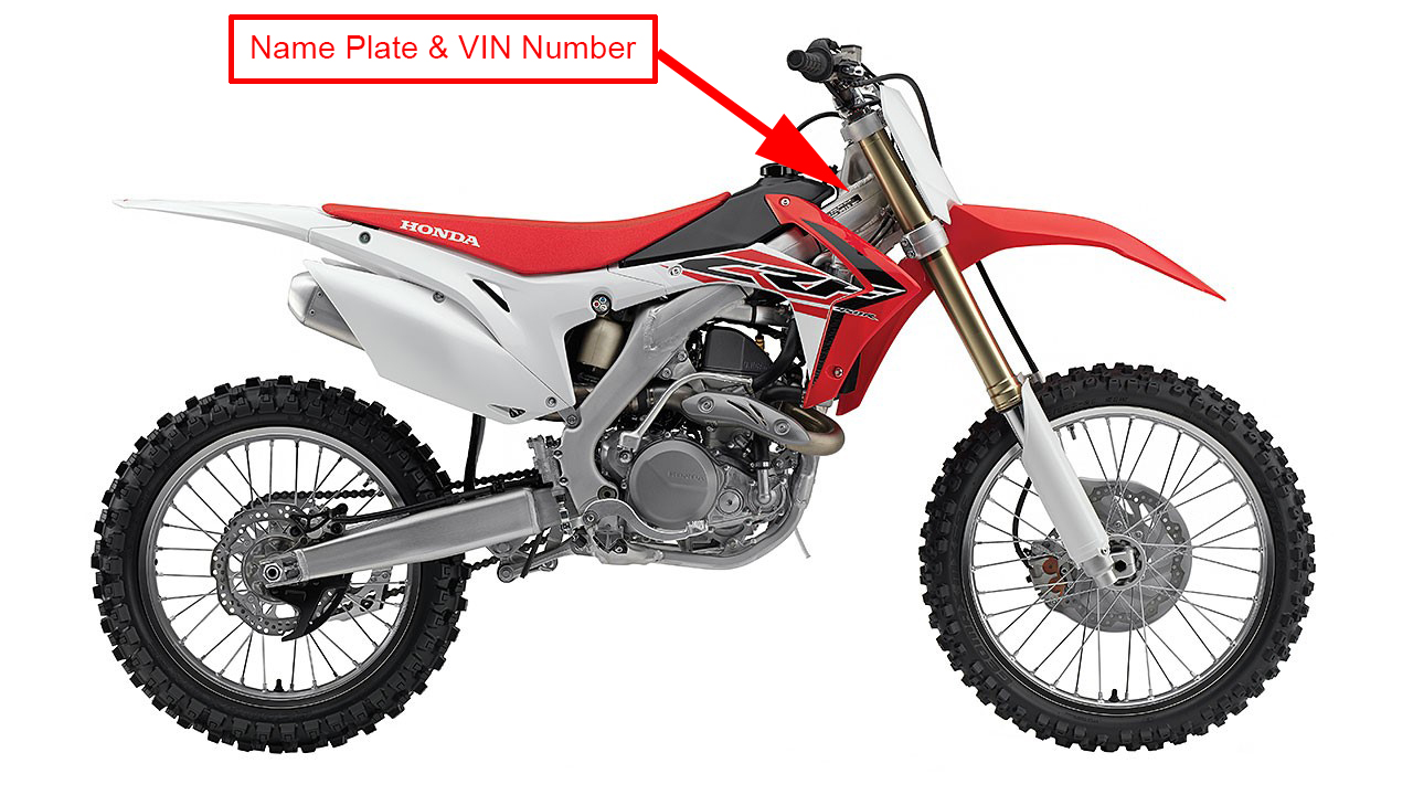 image of CRF450R motocross off-road motorcycles