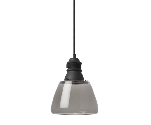 Small Stratton Pendant Smoke Glass