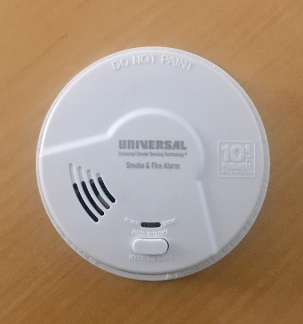 image of Battery powered smoke and fire alarms