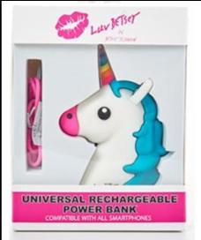 Cargador de baterías con forma de cabeza de unicornio