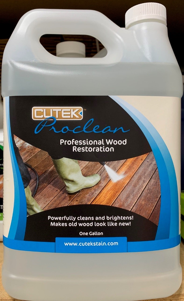 Recalled Cutek Proclean Professional Wood Restoration with non-compliant FHSA label