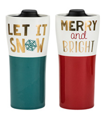 Recalled Holiday Tall Travel Mug with Lid