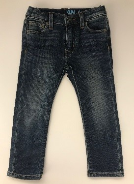 Front of recalled Crewcuts boy's denim pants