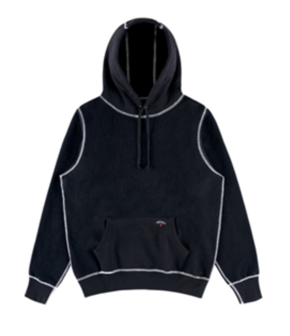 Recalled Noah Reverse Fleece Hoodies in Black
