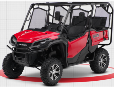 Recalled 2019-2020 Model Year Honda Pioneer 1000 5 Passenger