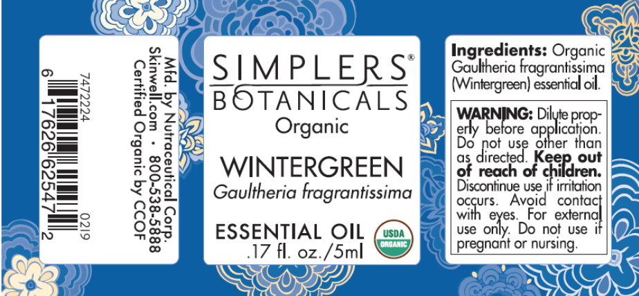 The label of the recalled Wintergreen Essential Oil