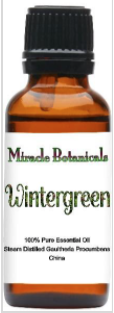Recalled Miracle Botanicals Wintergreen Essential Oil