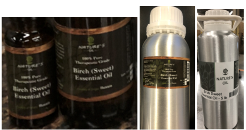 image of Nature's Oil Wintergreen and Birch Essential Oils