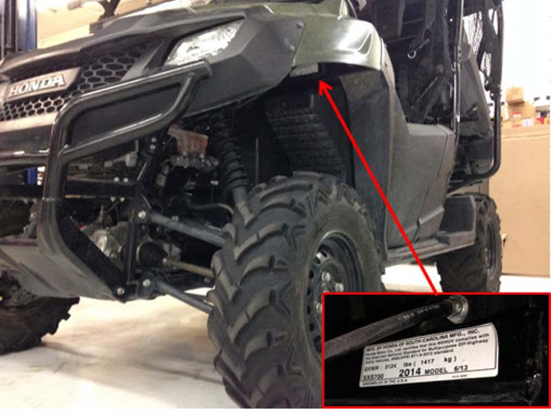 American Honda Recalls Recreational Offhighway Vehicles Due To Fire Rhcpscgov: Polaris Ranger Serial Number Location At Gmaili.net