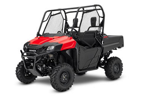 2017 Honda Pioneer 700 side-by-side (Red)