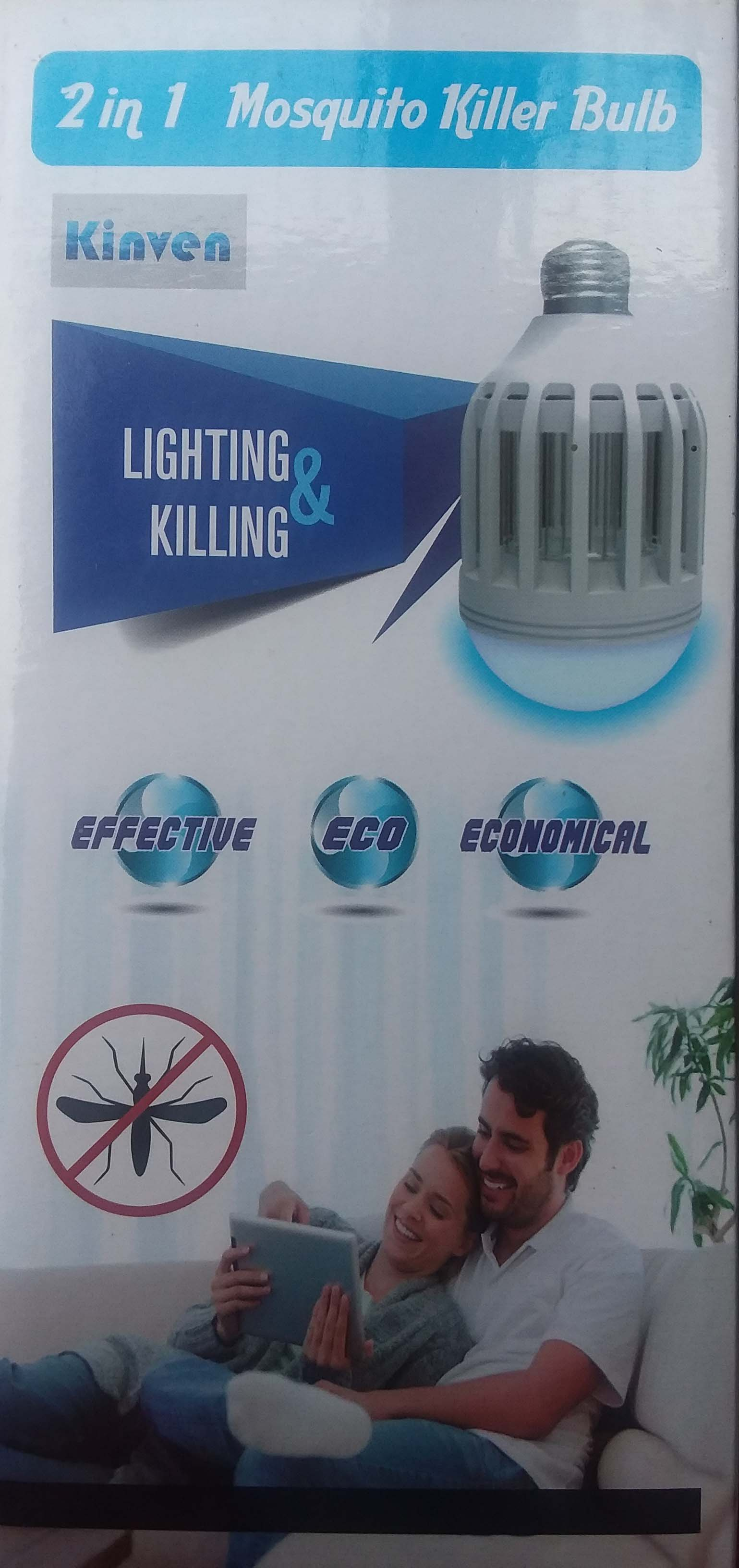 Recalled Outxpro mosquito zapper LED light bulb packaging