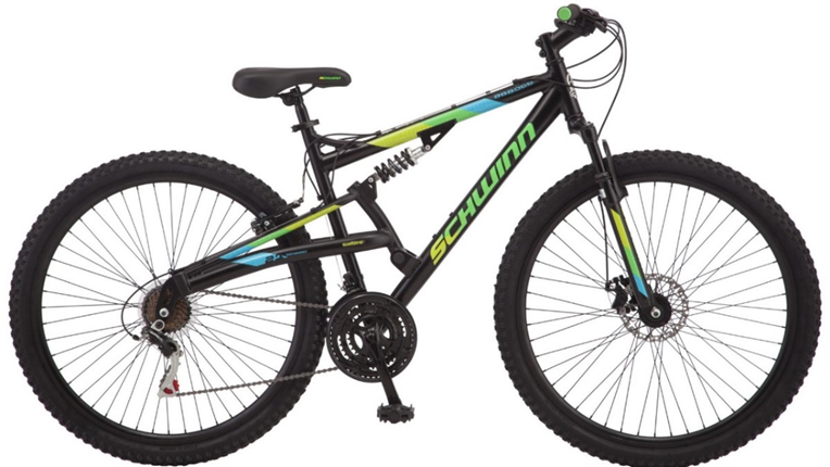 2018 Schwinn Abbott Adult Men's Full Suspension Mountain bicycle