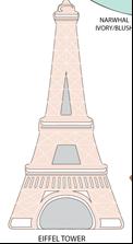 Cargador de baterías con forma de Torre Eiffel