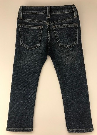 Back of recalled Crewcuts boy's denim pants