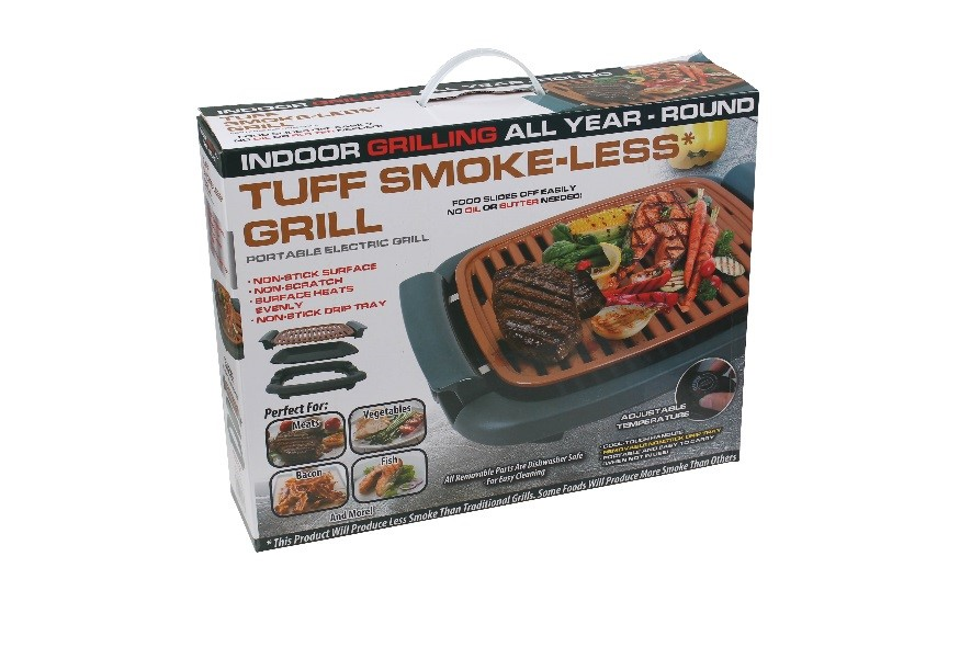 Recalled Tuff smoke-less grill – packaging