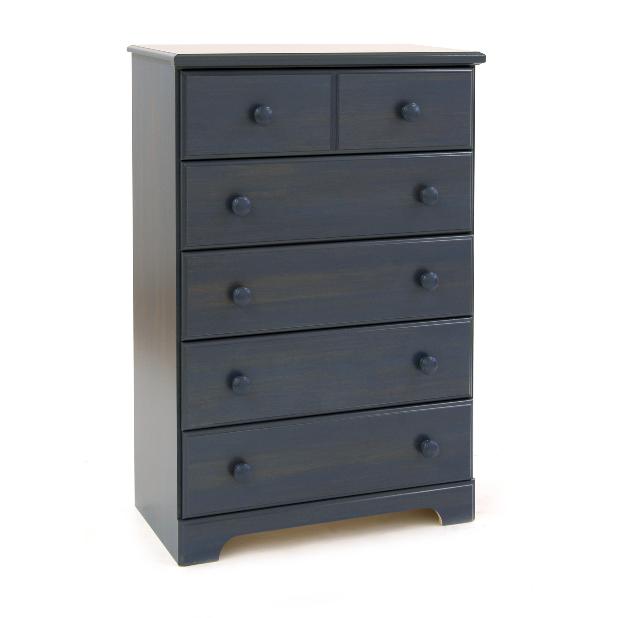 Summer Breeze style 5-drawer chest in blueberry