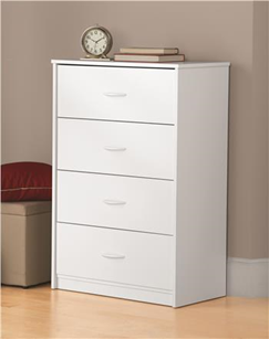 Ameriwood Mainstays chest of drawers in white- 5412015WY, 5412015PCOM