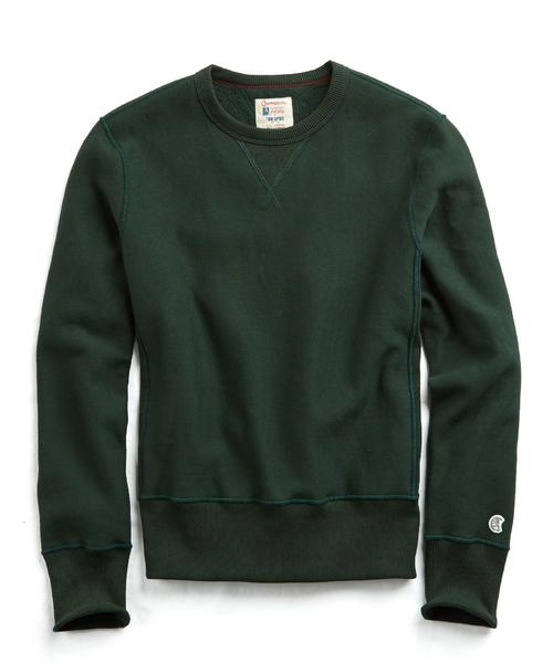 Recalled men's Todd Snyder + Champion sweatshirt in Park Green