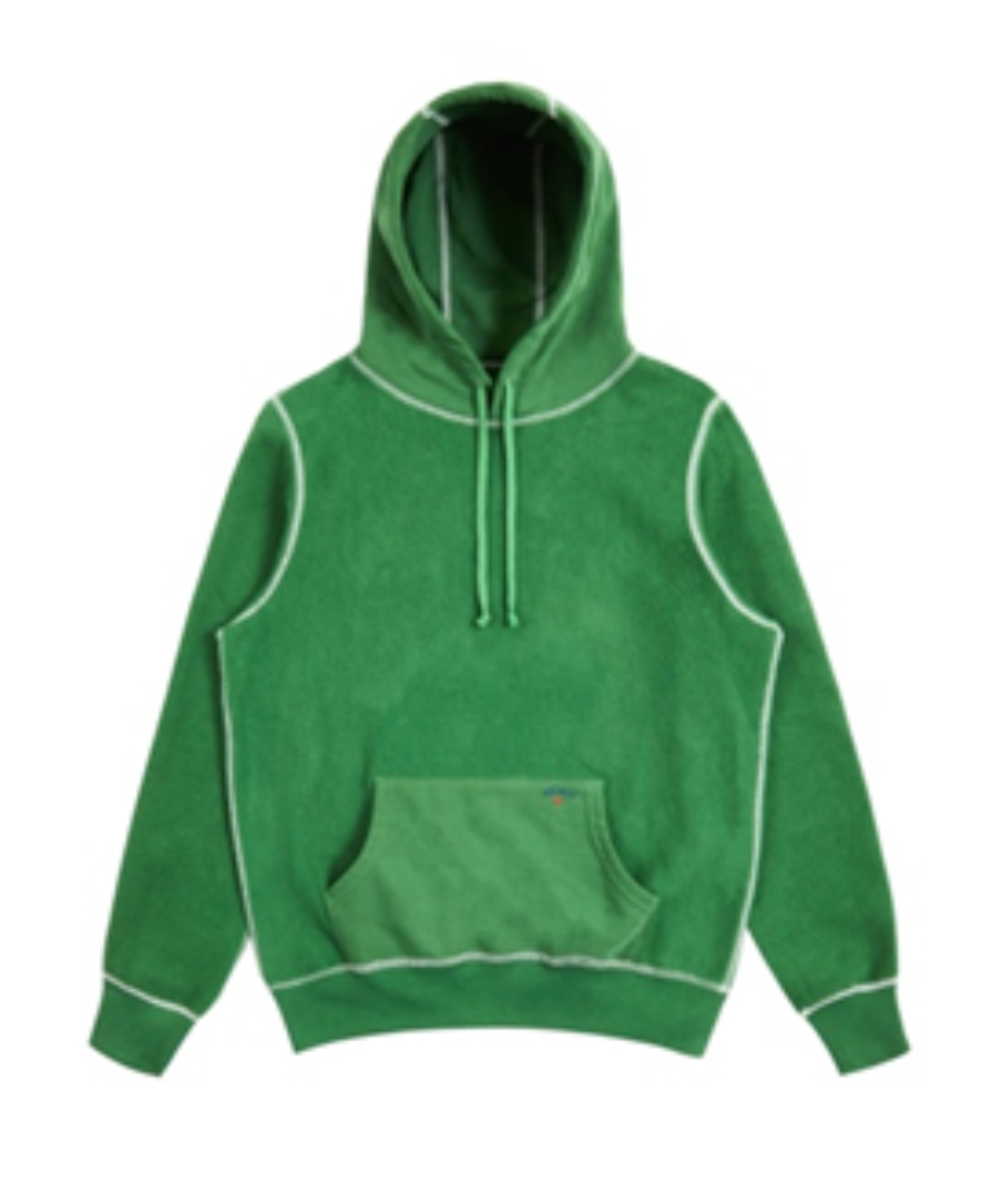 Recalled Noah Reverse Fleece Hoodies in Kelly Green