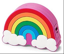 Cargador de baterías con forma de arcoíris y nubes