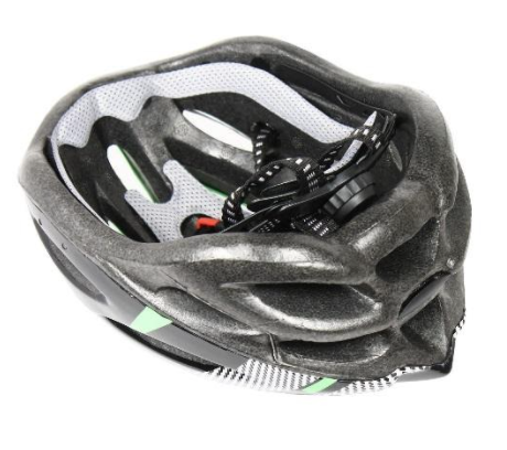 Recalled Any Volume bike helmet – inside view