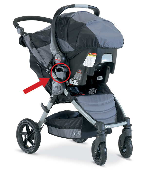 BOB-Motion stroller (in travel system mode)