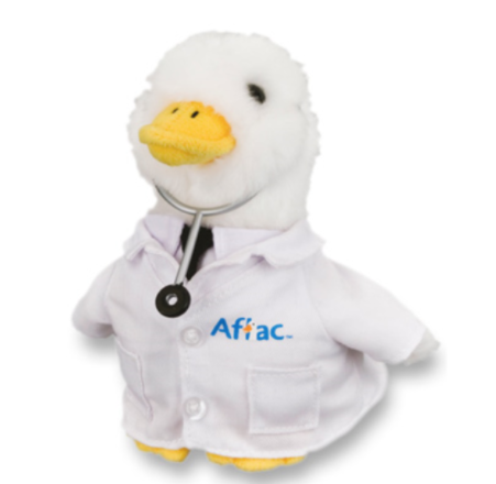"Recalled 6"" Plush Aflac Promotional Doctor Duck"